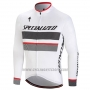 2018 Cycling Jersey Specialized White Long Sleeve and Bib Tight