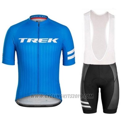 2018 Cycling Jersey Trek Bontrager Blue Short Sleeve and Bib Short