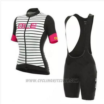 2018 Cycling Jersey Women ALE White Short Sleeve and Bib Short