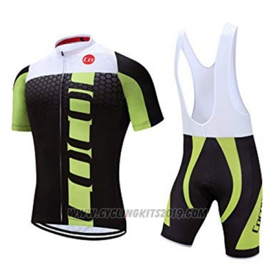 2019 Cycling Jersey Coconut Ropamo Black Green Short Sleeve and Bib Short