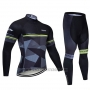 2019 Cycling Jersey Northwave Black Gray Long Sleeve and Bib Tight