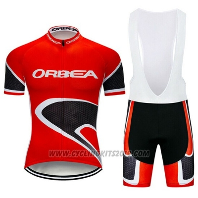 2019 Cycling Jersey Orbea Red Black Short Sleeve and Bib Short