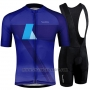 2019 Cycling Jersey Runchita Sky Bluee Blue Short Sleeve and Bib Short