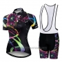 2019 Cycling Jersey Women Weimostar Black Pink Green Short Sleeve and Bib Short