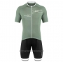 2020 Cycling Jersey DE Marchi Light Green Short Sleeve and Bib Short