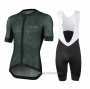 2020 Cycling Jersey Le Col Deep Green Short Sleeve and Bib Short