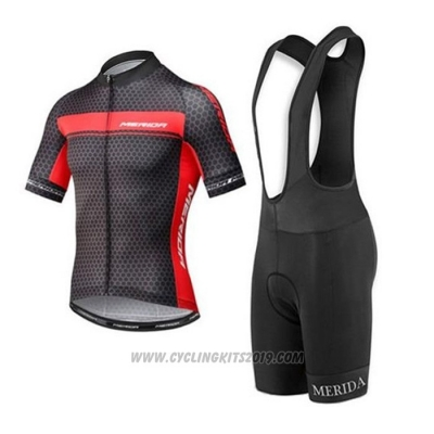 2020 Cycling Jersey Merida Red Black Short Sleeve and Bib Short