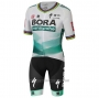 2020 Cycling Jersey UCI World Champion Bora White Green Short Sleeve and Bib Short