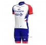 2021 Cycling Jersey Groupama-fdj Red Blue Short Sleeve and Bib Short