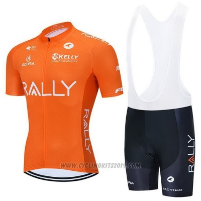 2021 Cycling Jersey Rally Orange Short Sleeve and Bib Short