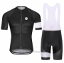 2021 Cycling Jersey Steep Black Short Sleeve and Bib Short