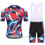 2021 Cycling Jersey Steep Red Blue Short Sleeve and Bib Short