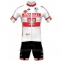 2021 Cycling Jersey Wallonie Bruxelles White Short Sleeve and Bib Short