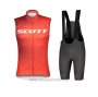 2021 Wind Vest Scott Red Short Sleeve and Bib Short