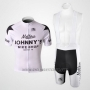 2010 Cycling Jersey Johnnys Black and White Short Sleeve and Bib Short