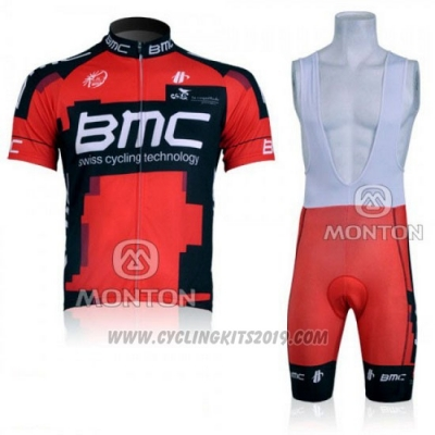 2011 Cycling Jersey BMC Red and Black Short Sleeve and Bib Short