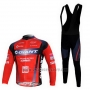 2011 Cycling Jersey Giant Black and Red Long Sleeve and Bib Tight