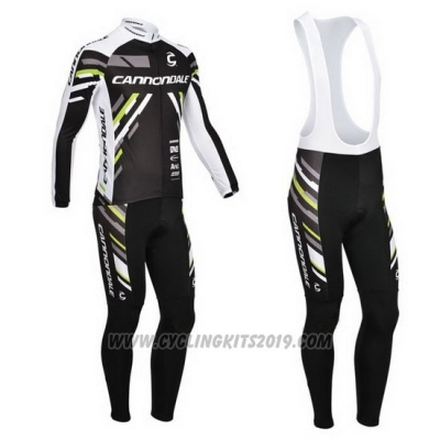 2013 Cycling Jersey Cannondale Black Long Sleeve and Bib Tight