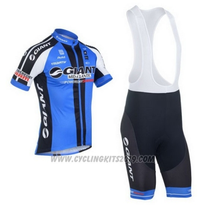 2013 Cycling Jersey Giant Black and Blue Short Sleeve and Bib Short