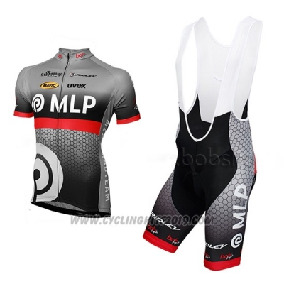 2013 Cycling Jersey MLP Team Bergstrasse Gray Short Sleeve and Bib Short