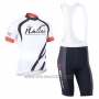 2013 Cycling Jersey Nalini White Short Sleeve and Salopette