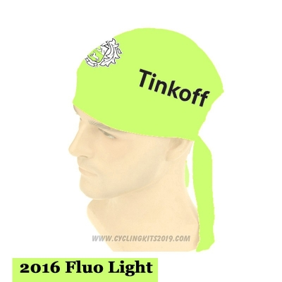 2015 Saxo Bank Tinkoff Scarf Cycling Light Green