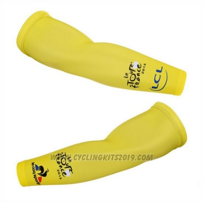 2015 Tour de France Arm Warmer Cycling Yellow