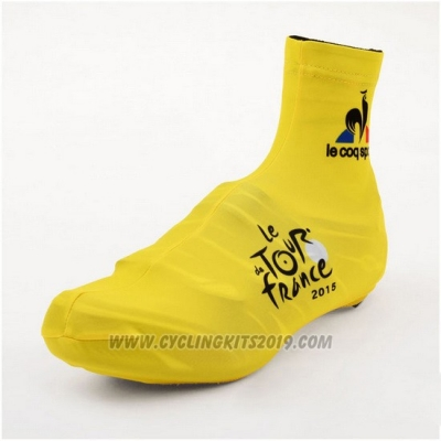 2015 Tour de France Shoes Cover Cycling Yellow