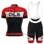 2016 Cycling Jersey ALE Red Bianco Black Short Sleeve and Bib Short