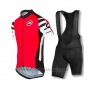 2016 Cycling Jersey Assos Red Short Sleeve and Bib Short