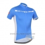 2016 Cycling Jersey Castelli Blue and White Short Sleeve and Bib Short