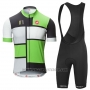 2016 Cycling Jersey Castelli Green and Black Short Sleeve and Bib Short