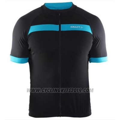 2016 Cycling Jersey Craft Black and Blue Short Sleeve and Bib Short