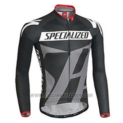 2016 Cycling Jersey Specialized Ml Black and Gray Long Sleeve and Bib Tight