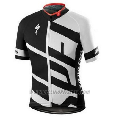 2016 Cycling Jersey Specialized White and Black 1 (2) Short Sleeve and Bib Short