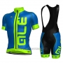 2017 Cycling Jersey ALE Blue Short Sleeve and Bib Short