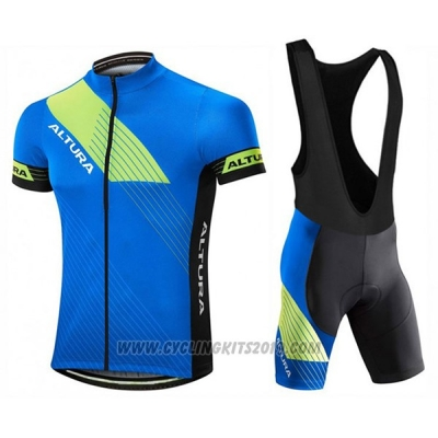 2017 Cycling Jersey Altura Sportive Blue Short Sleeve and Bib Short