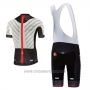 2017 Cycling Jersey Castelli Aero Race White and Black Short Sleeve and Bib Short