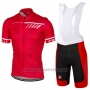 2017 Cycling Jersey Castelli Red Short Sleeve and Bib Short