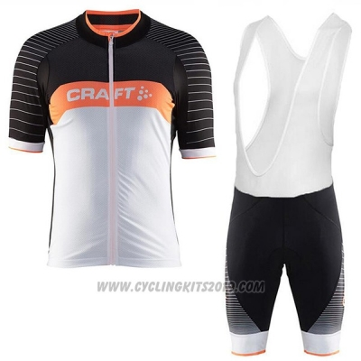 2017 Cycling Jersey Craft Gray and Black Short Sleeve and Bib Short