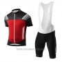 2017 Cycling Jersey Loffler Black and Red Short Sleeve and Bib Short