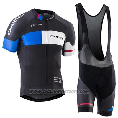 2017 Cycling Jersey Orbea Black Short Sleeve and Bib Short
