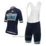 2017 Cycling Jersey Santini Collegrllo Deep Blue Short Sleeve and Bib Short