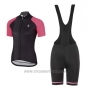 2017 Cycling Jersey Women Etxeondo Neo Black and Pink Short Sleeve and Bib Short