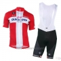 2018 2019 Cycling Jersey Quick Step Floors Campione Denmark Short Sleeve and Bib Short