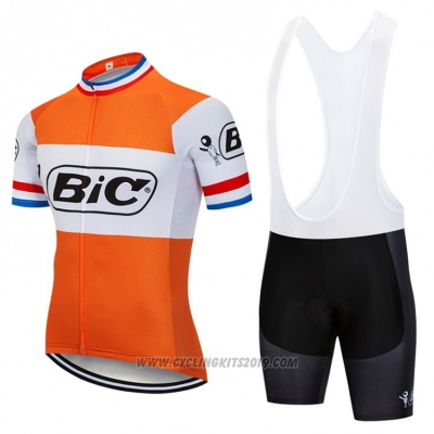 2018 Cycling Jersey Bic Campione Netherlands Orange Short Sleeve and Bib Short