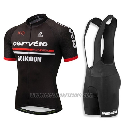2018 Cycling Jersey Cervelo Black Short Sleeve and Bib Short