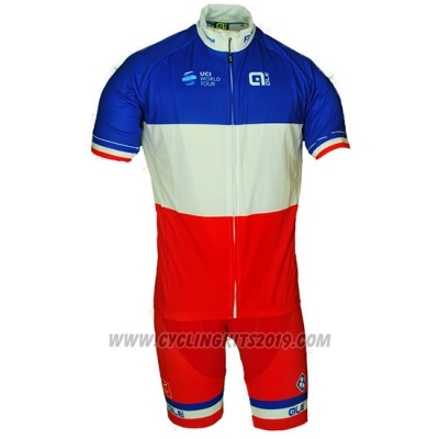 2018 Cycling Jersey France Red White Short Sleeve and Bib Short