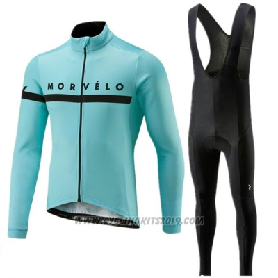 2018 Cycling Jersey Morvelo Blue Short Sleeve and Bib Short