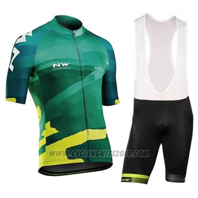 2018 Cycling Jersey Northwave Blade Green Short Sleeve and Bib Short